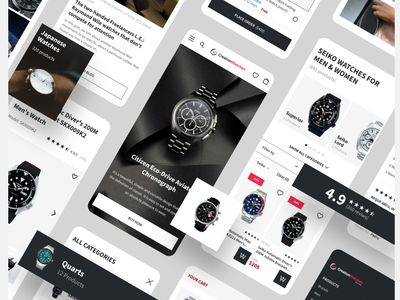 Creation Watches — eCommerce website redesign mobile web design equal ux ui design mobile design adaptive responsive mobilefirst webdesign website eccomerce