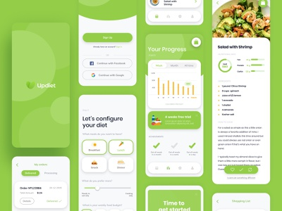Healthy food mobile app design food app inspiration app health app equal mobile app healthy lifestyle health clean ui mobile design mobile ux design ui