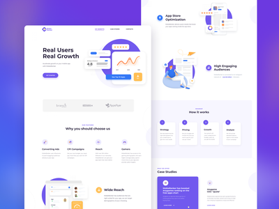 Landing Page for MobieRanker equal mobile ui ux web illustration logo branding uidesign landing page landing designer desktop uiux ui ux ui design userinterface user interface user experience user interface design