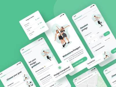 Fitness challenges mobile app illustration mobile mobile uiux userinterface userexperience ui ux healthy lifestyle web design fitness app app uxui design mobile ui mobile app design mobile app clean ui equal