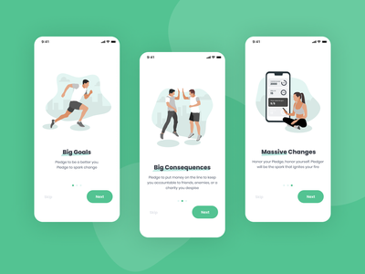 Onboarding screens for the fitness app application fitness mobile app design onboarding illustration clean ui onboarding healthy lifestyle fitness app userexperience userinterface illustration mobile app mobile design mobile equal ux ui design