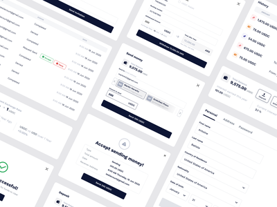 Cryptocoin system elements design ui ux equal userinterface userexperience dashboard fintech app crypto uxui payments transactions money cryptocurrency crypto exchange deposit navigation system elements