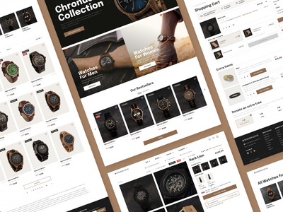 E-commerce website redesign uxui e-commerce design redesigned website shopping cart redesign concept website design e-commerce shop watches watch e-commerce website redesign ecommerce clean ui userexperience userinterface equal ux ui design