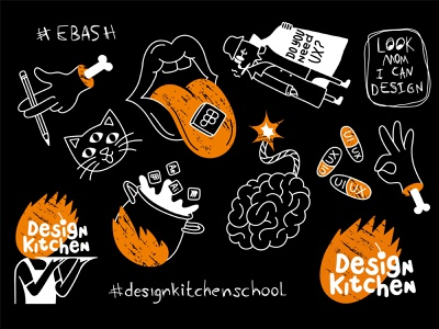 Stickers for Design Kitchen School illustration design illustration art illustrations students kharkiv school webdesign education studying stickers clean ui uxui userexperience mobile design userinterface mobile equal ux ui design