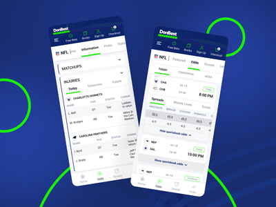 Donbest sports betting mobile-first project design ux ui equal mobile userinterface userexperience clean ui uxui sport betting football basketball sports mobilefirst website gambling data heavy sports technology submenu
