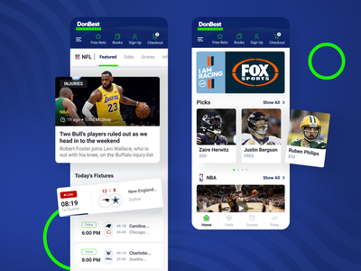 Mobile Sports Betting Project bets sport app mobile app design mobile ui mobile app basketball football gambling betting app sport clean ui uxui mobile design userexperience userinterface mobile equal ux ui design