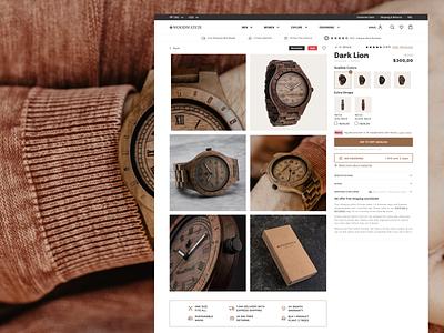 WoodWatch — eCommerce website redesign navigation web desktop shop platform inspiration uxui brand redesign website e-commerce ecommerce store userexperience mobile userinterface equal ux ui design