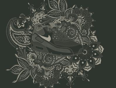 Nike Paisley Illustration