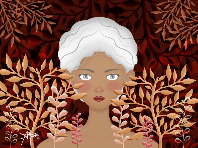 Season Collection: Autumn autumn botanical woman graphic arts digital painting digital illustration digital art character design illustration graphic artwork