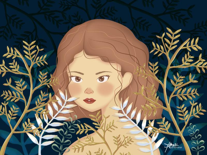 Season Collection: Winter winter botanical woman graphic arts digital painting digital illustration digital art character design illustration graphic artwork