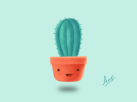 Cactus Pot🌵 (Gal Shir inspired Art)