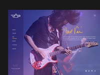 Steve Vai - Website Design Concept