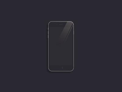 iPhone 6s Illustration app vector graphics stroke minimalist iphone 6s dribbble graphic designer graphic design flat illustration products apple cell flat ux vector design illustration
