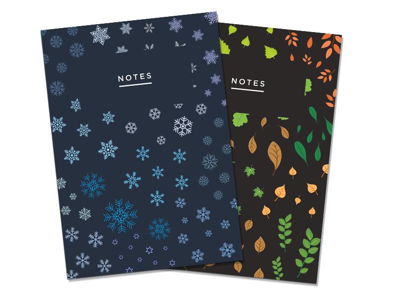 Season Covers illustration print ui flat minimalism cards covers visual design