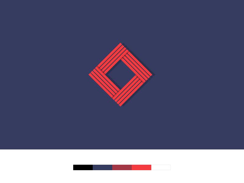 Geometric Logo Concept lines simple concept geometric brand logo