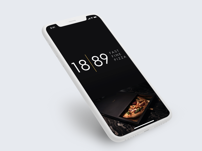 Welcome Screen-PizzaApp iphone ios11 screen welcome pizza iphonex sketch
