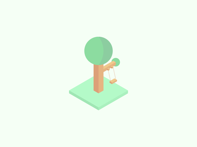 Swing isometric branch tree swing