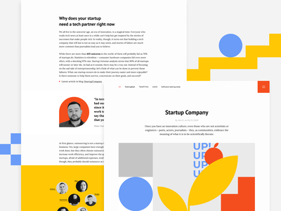 Software Testing & QA Company Blog website ux ui start up geometry modern clean brand blog