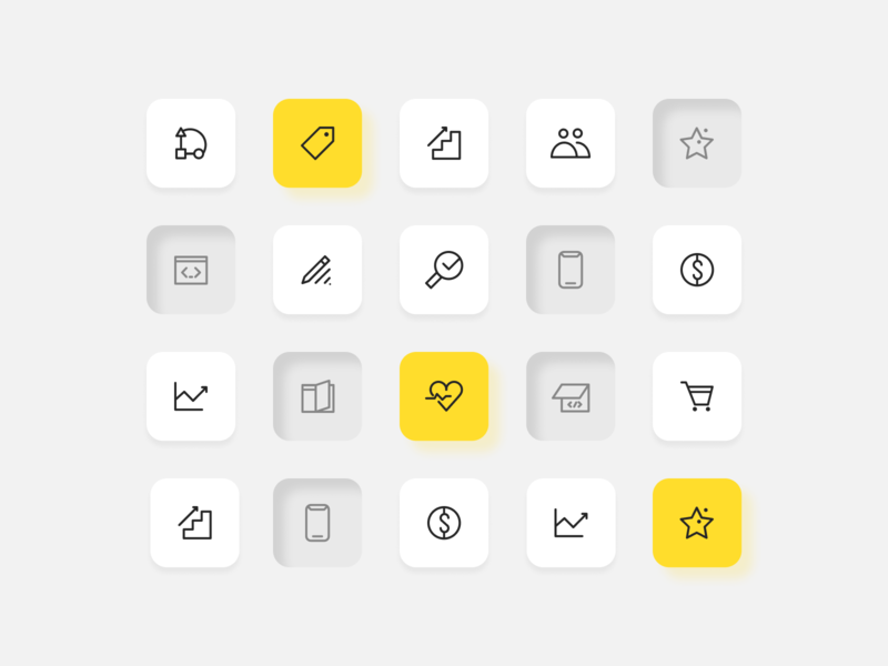 QArea Icon & Button Set icon icons design icons pack icons idenity line icons clean design clean ui ui design ui identity icon system icon symbol button design buttons button states simple icons shadow userinterface clean