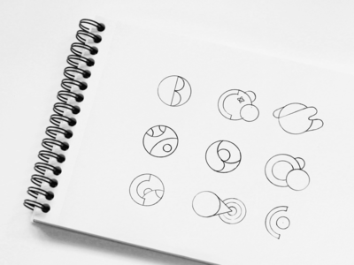 Crystal Ball Logo Sketches