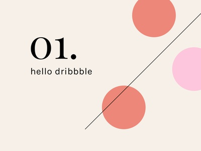 Hello Dribbble! thanks first shot abstract circles hello dribbble