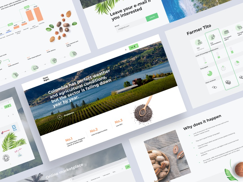 Landing page UI layout trendy giveaway ui home screen homepage travel green landing page food nature