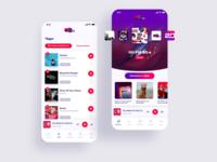 Hit Fm radio - app interface