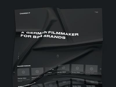 Wireframe in progress sketch streaming video filmmaker grid layout design ui ux website web perspective black mockup wireframe