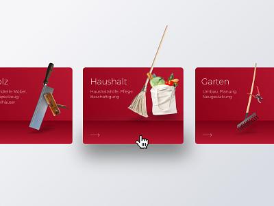 Sozialwerk Aachen III uikit concept shadow interface sketch design grid layout red web webdesign hover ux ui