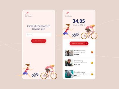 Sports during lockdown lockdown illustration concept interface sport pink rosa uidesign web mobile app ux ui