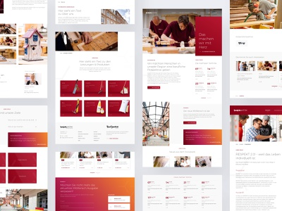 Fresh from the oven! grid sketch gradients gradient white red concept website web layouts ux ui