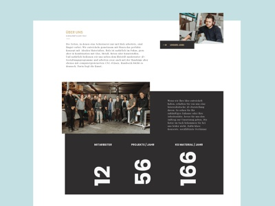 Holzart concept interface website webdesign 2d typography layout sketch countdown ui ux black wood web