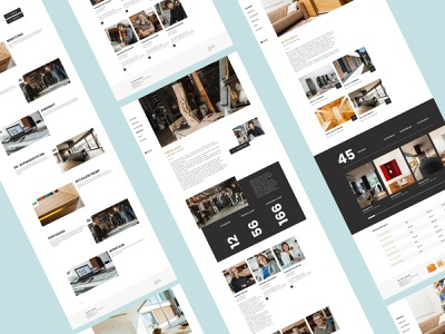 Holzart II layout interface 2d concept sketch typography ui website wood mint ux web