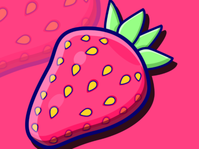 Strawberry yellow healthy berry fun berries berry green red pink graphic design fruits fruit vector fruit illustration fruit strawberries strawberry