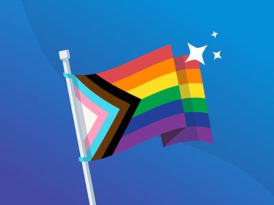 Pride flag illustration ally pride truelayer