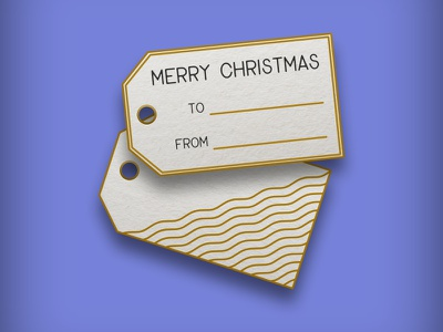 Christmas gift tags product design design