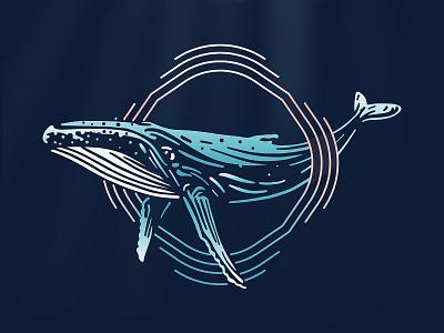 Whale illustration humpback whale whale logo sea whale vector illustration design branding animal