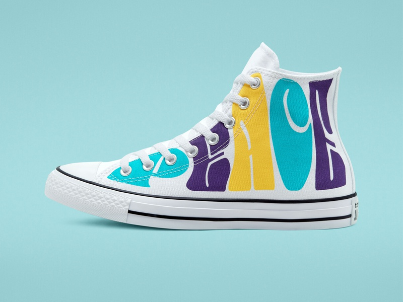 Converse Empowered Chuck Taylor All Star funky sneakers surface design vector lettering hand lettering type converse