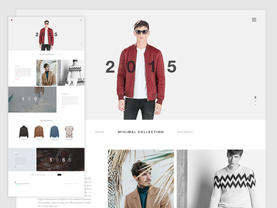 Fashion Website website fashion template web user interface web ui minimal web design user experience