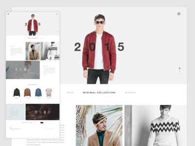 Fashion Website website fashion template web user interface web ui minimal web design user experience