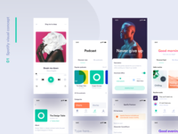 Spotify visual concept - Sneak peek redesign spotify redesign spotify music ui app minimal