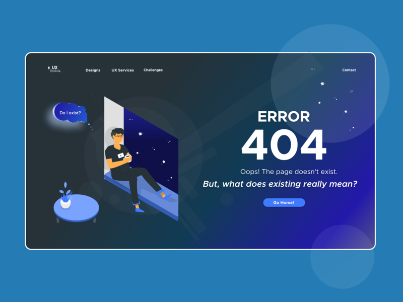 Error 404 ui design error page error 404 illustration webdesign adobe xd html5 web design design uiux