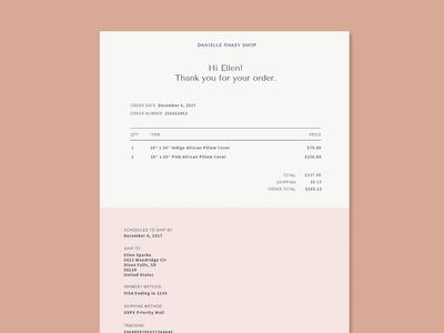 Branded Invoice Design