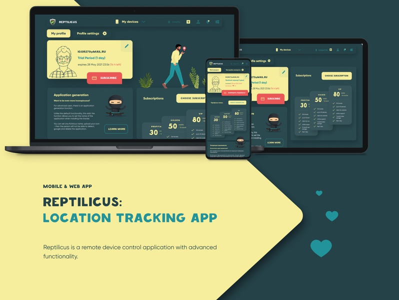 UI/UX Design for a tracking app (web & mobile app) remote control location tracking tracking app parental control location app tracking system application tracking illustration ux app figma ui design