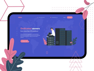 dribbble name 2 red blue technology hosting server google material web design illustration website web ux ui figma design