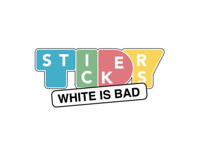White is Bad! colors cool young stationary logo design sticker design sticker stickers for imessage tidy color london stickers