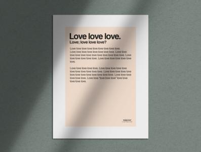 Love love love, manifesto love typography design