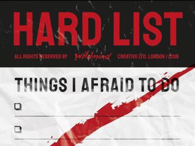 HARDLIST typography list