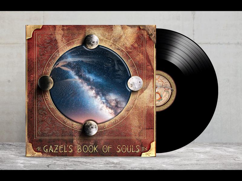 Gazel`s Book of Souls artwork design cover album book mystic futuristic ornamental