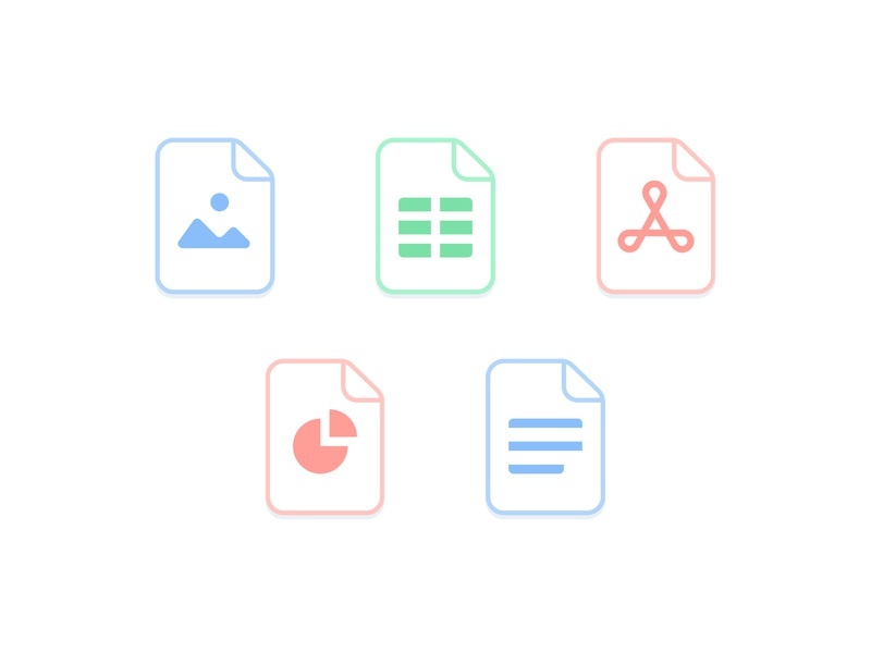 Document icons ui colors documents icons